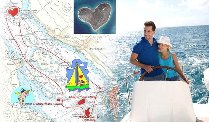 Machen Sie einen besonderen Valentinstag, segeln Sie um die Liebesinsel!