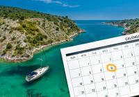 Haben Sie vor, von Mittwoch bis Mittwoch eine Yacht zu chartern?