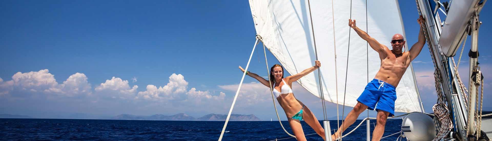 Viel Spaß auf Segelboot