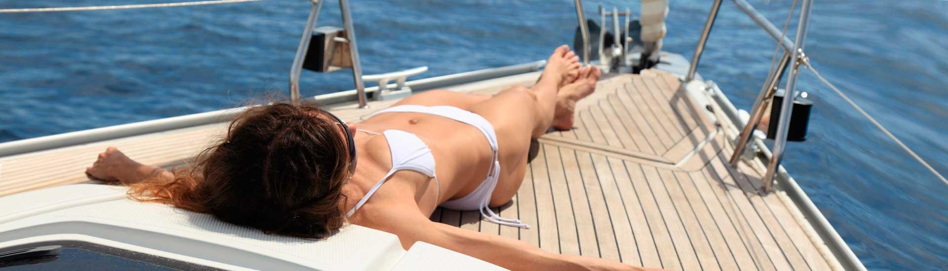 Entspannen Sie sich und genießen Sie Segeln