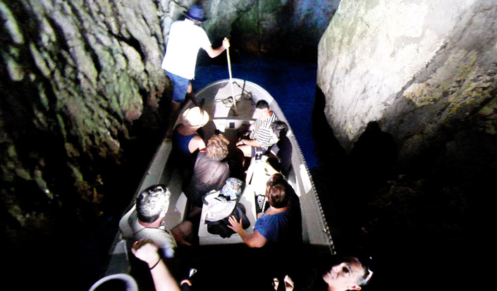 Sightseeing is possible only with the small boats - Blue Cave, Bisevo