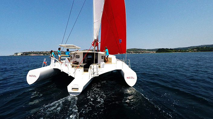 Trimaran Neel 45 and our team :)