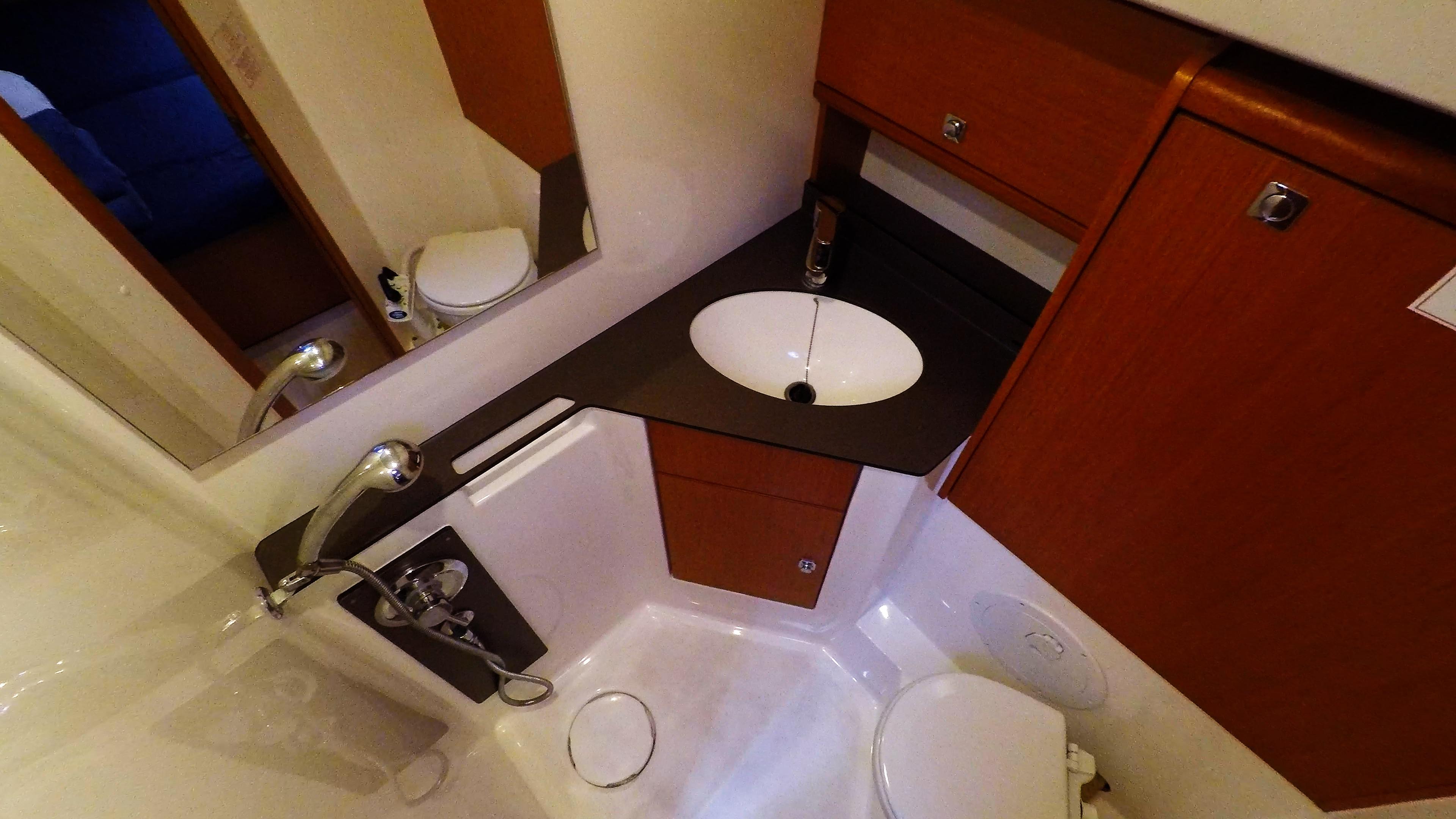 Segelyacht bavaria 46 cruiser Segelyacht Innere zurück Achter Toilette Toilette Dusche