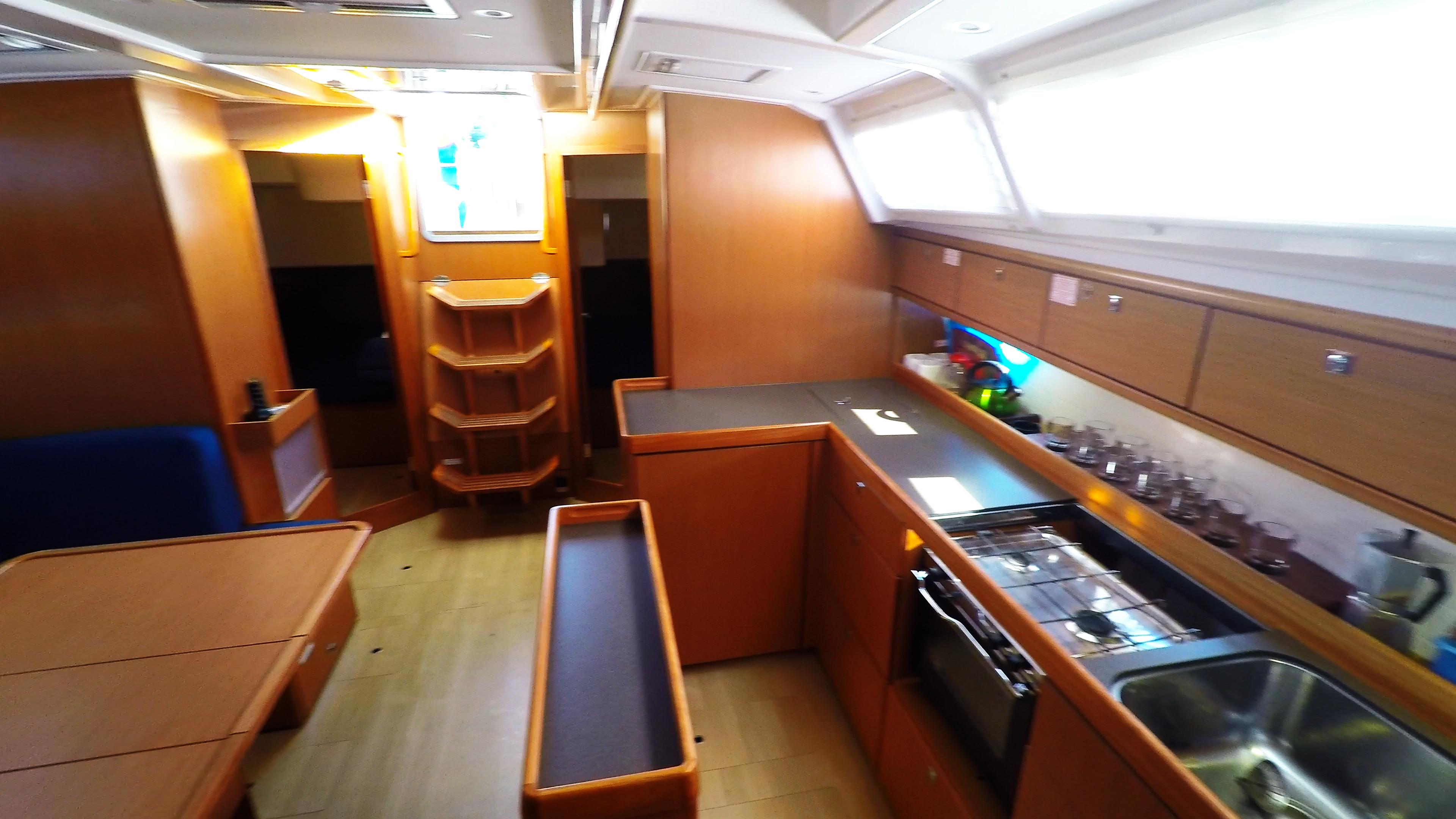 Segelyacht bavaria 46 cruiser Segelyacht Innere Galeere