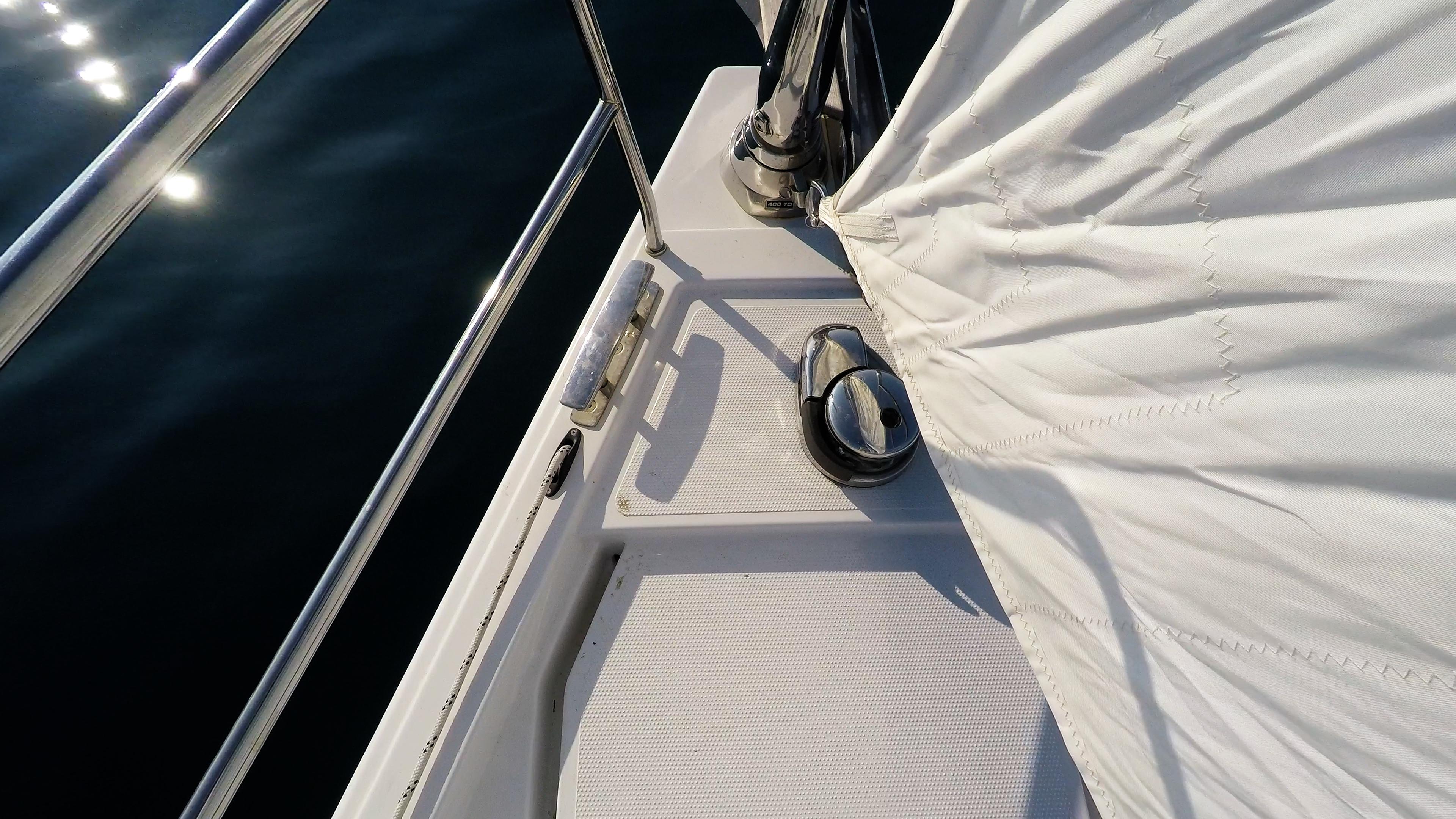 Segelyacht elektrische AnkerWinde Segelboot Bug Meer Vorstag