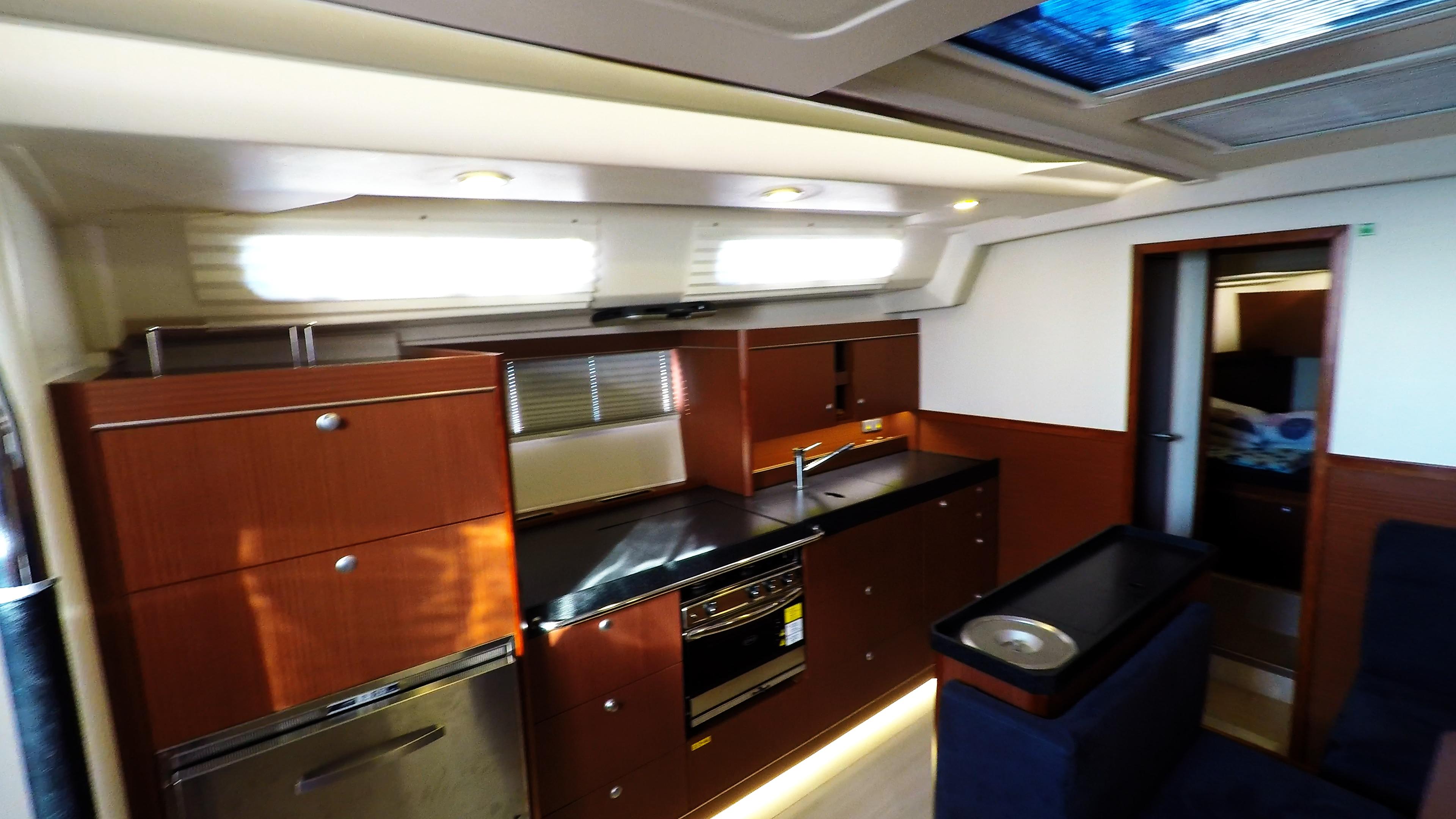 Segelyacht Galeere Salon Segelyacht hanse 505