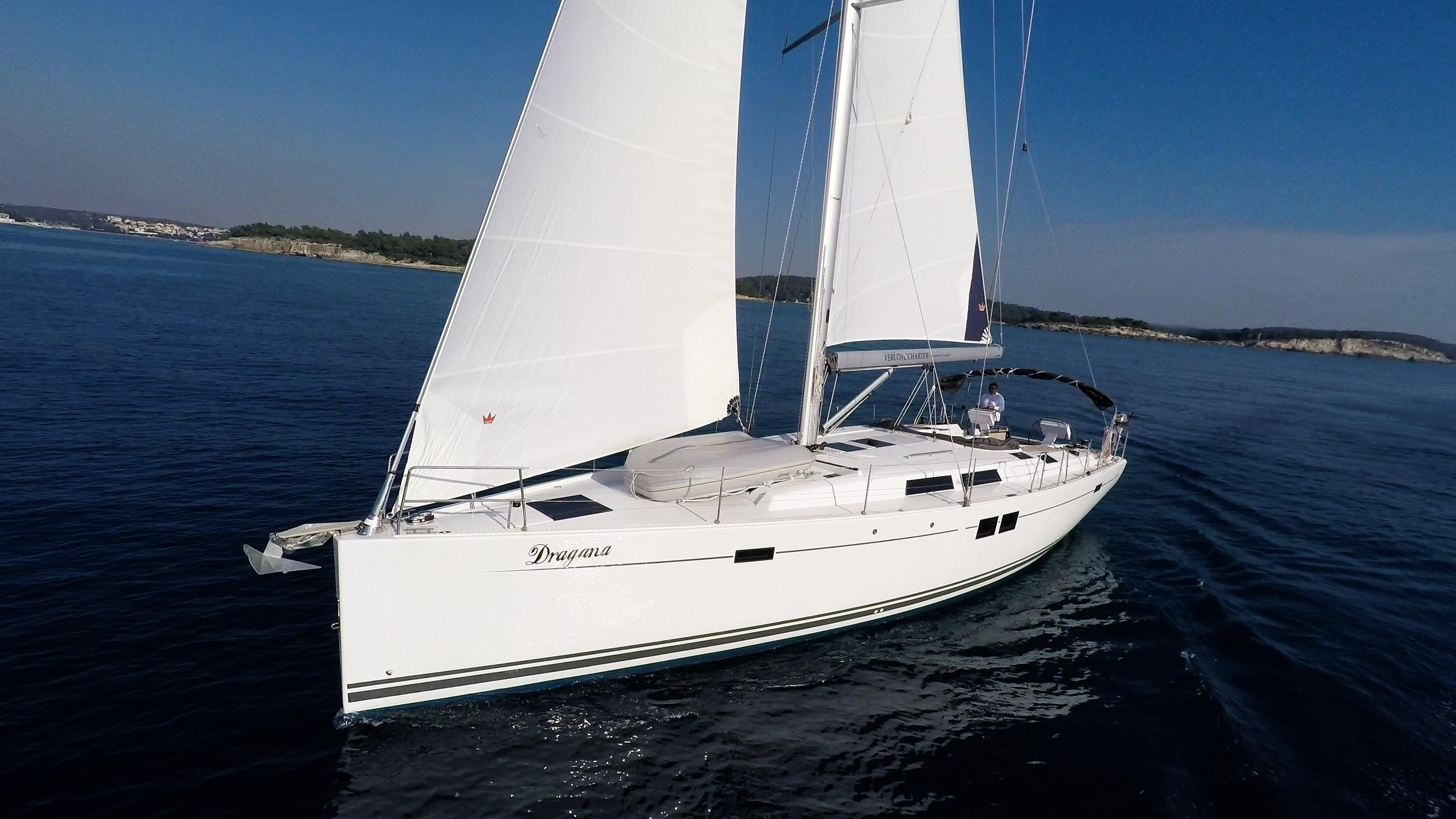 Segelyacht Hanse 505 Bug Segel Segelyacht