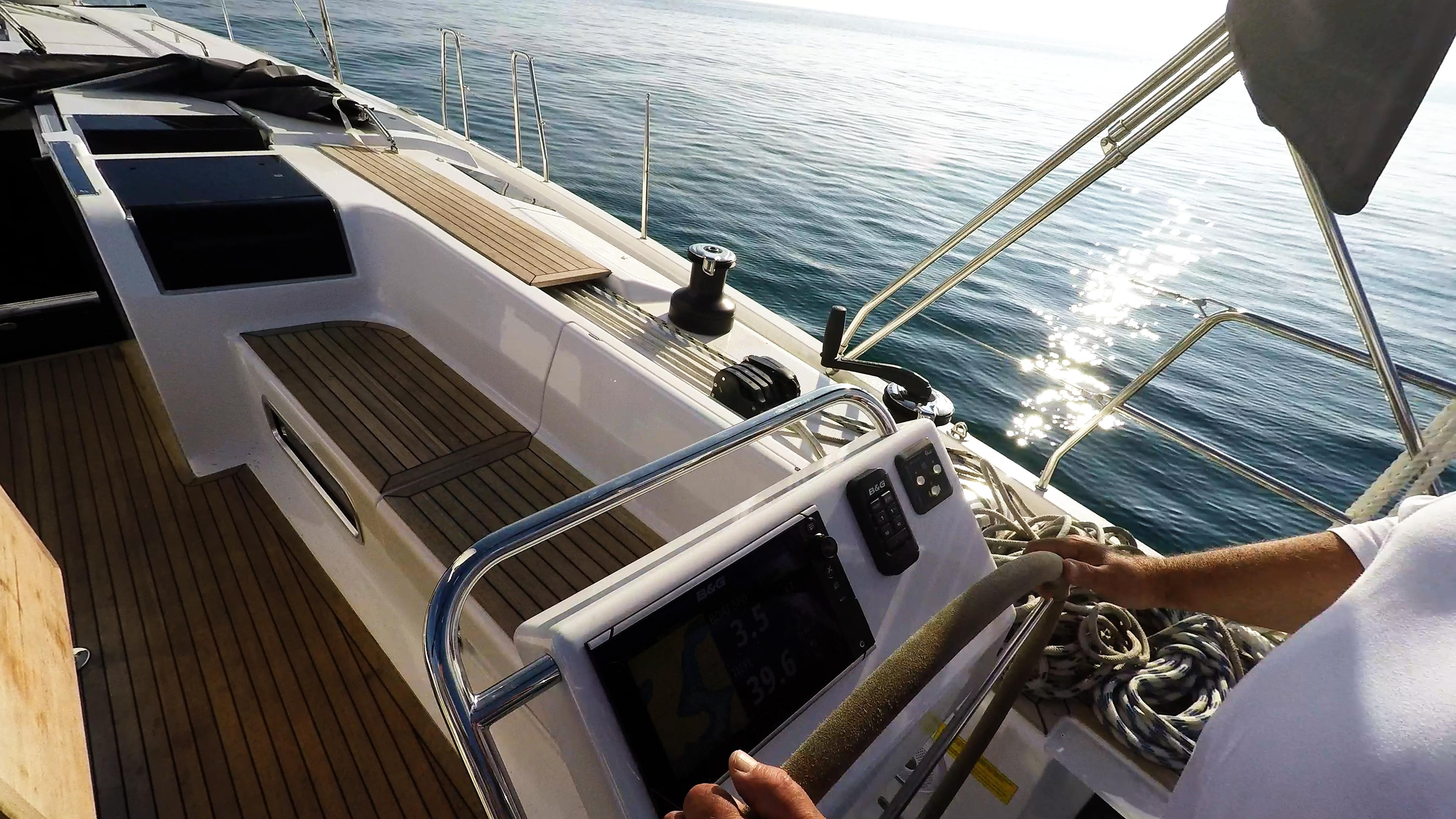 Segelyacht Hanse 505 Instrumente Teak Cockpit Segelyacht