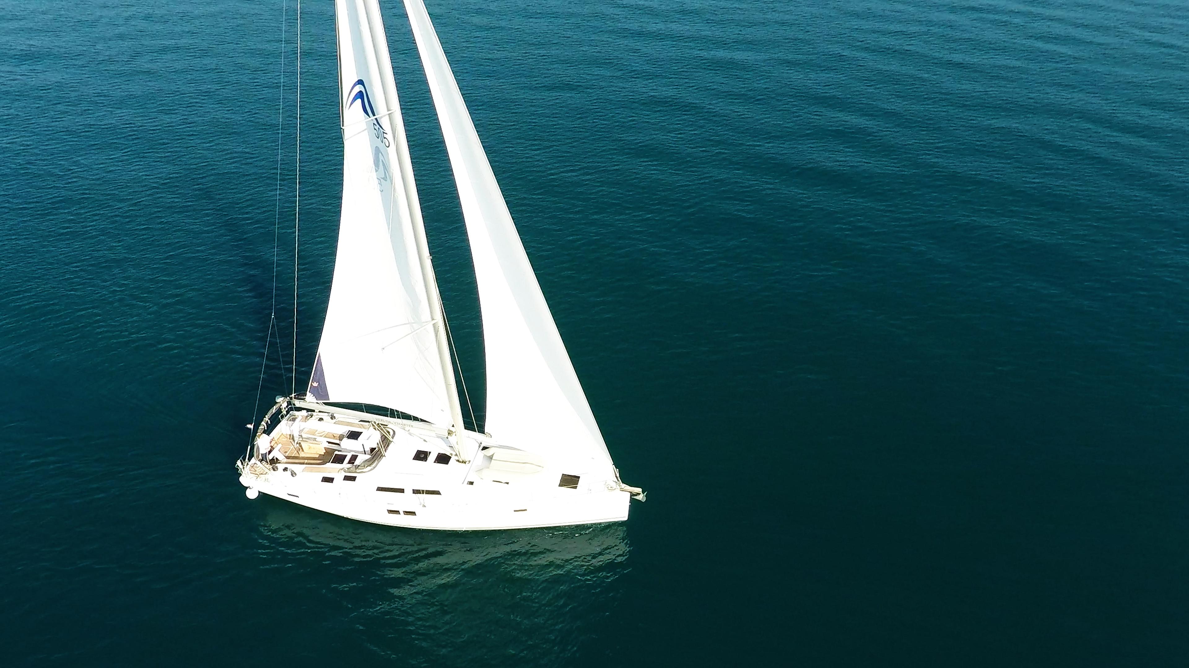 Segelyacht Hanse 505 Segelboot Antenne